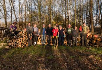 EuCAN Nov 2017 team in La Touche Reserve, La Brenne